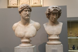 Busts of Hadrian and Antinoös from the British Museum