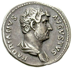 Swarthy, bearded, Spanish-accented Hadrian