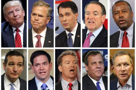 FILE PHOTO COMBO OF REPUBLICAN PRESIDENTIAL CANDIDATES