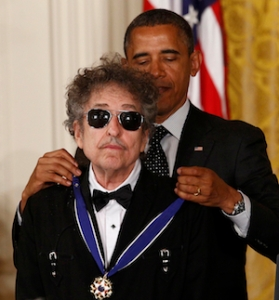 Bob Dylan, like a true artist, is unimpressed by presidents and prizes.
